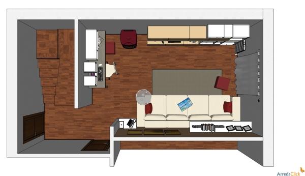 Idee ricavare un angolo computer in soggiorno arredaclick - Angolo studio ikea ...