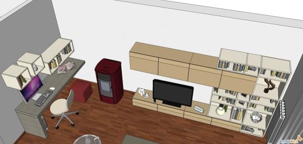 ARREDACLICK BLOG - Ricavare un angolo computer in soggiorno ...