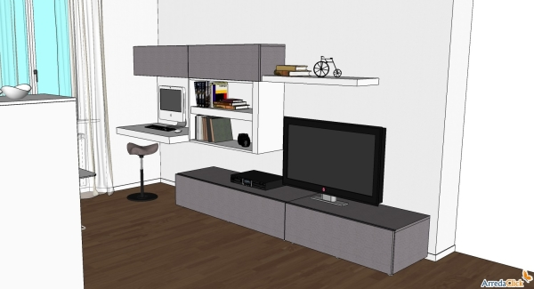 Arredaclick blog ricavare un angolo computer in for Parete soggiorno ad angolo