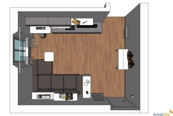 Idee ricavare un angolo computer in soggiorno arredaclick for Disposizione soggiorno