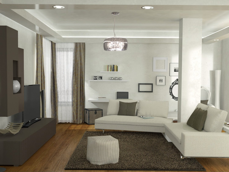 Idee come arredare un soggiorno con colonne e pilastri for Come progettare un appartamento con una camera da letto
