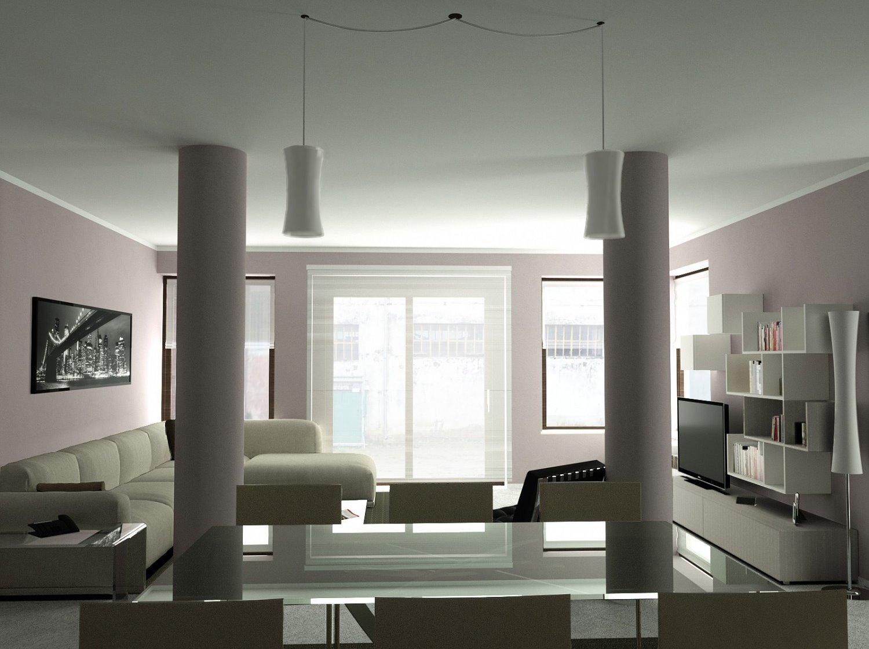 Arredaclick blog come arredare un soggiorno con colonne for Cucina open space con pilastri