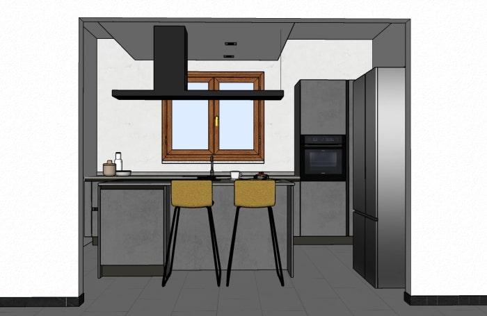Vista della cucina dal soggiorno