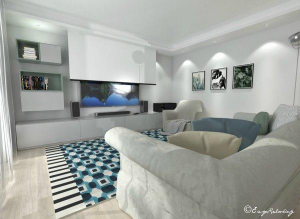 Idee il progetto trasformare il piano terra in taverna - Parete attrezzata con divano ...