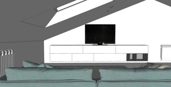 Mobile porta tv sospeso