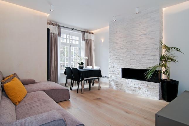 Idee progetto a londra kensington arredare casa in for Arredamento casa bianco