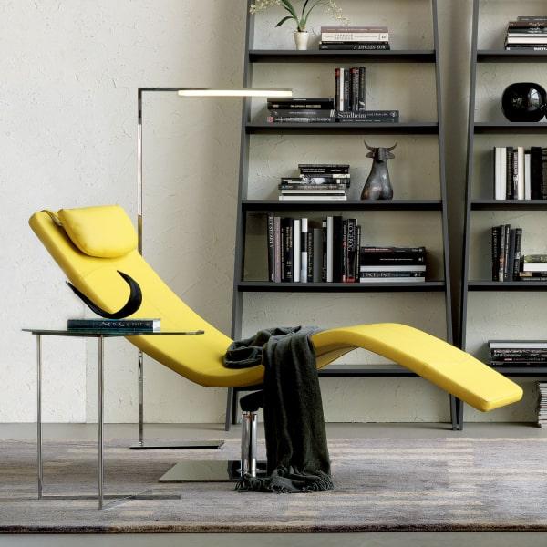 Moderna chaise longue gialla Casanova
