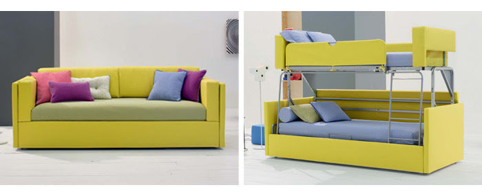 Idee soggiorno trasformabile in camera quali arredi for Soggiorno castello