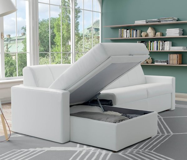 Idee arredare il monolocale come scegliere il letto - Divano letto con materasso alto ...
