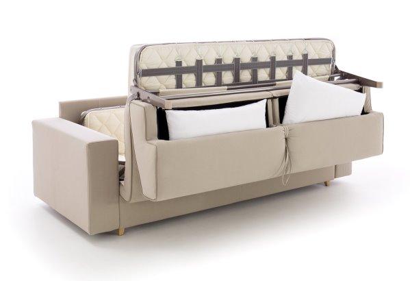 Divano letto Colin di HomePlaneur personalizzabile per dimensioni, rivestimenti, colori