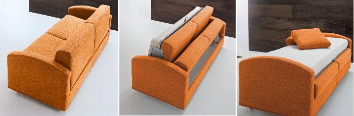 Idee divano letto comodo esiste arredaclick - Divano letto singolo girevole ...
