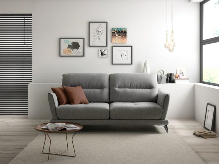 Idea per decorare una parete sopra il divano - Divano Orange