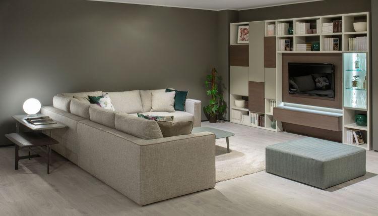 Tavolino e consolle in appoggio sul retro del divano - Clive