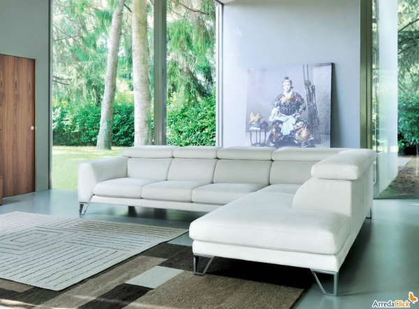 Divani Bianchi Ecopelle : Idee divani bianchi pelle ecopelle o tessuto diotti