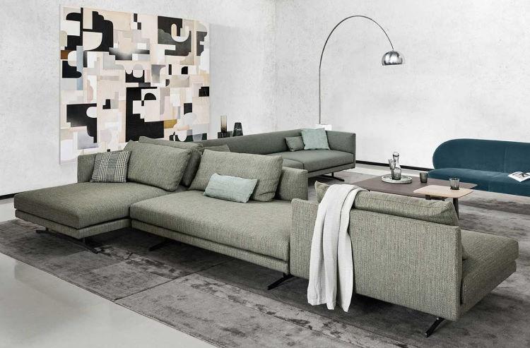 Grande divano bifronte a doppio angolo - Jude Componibile