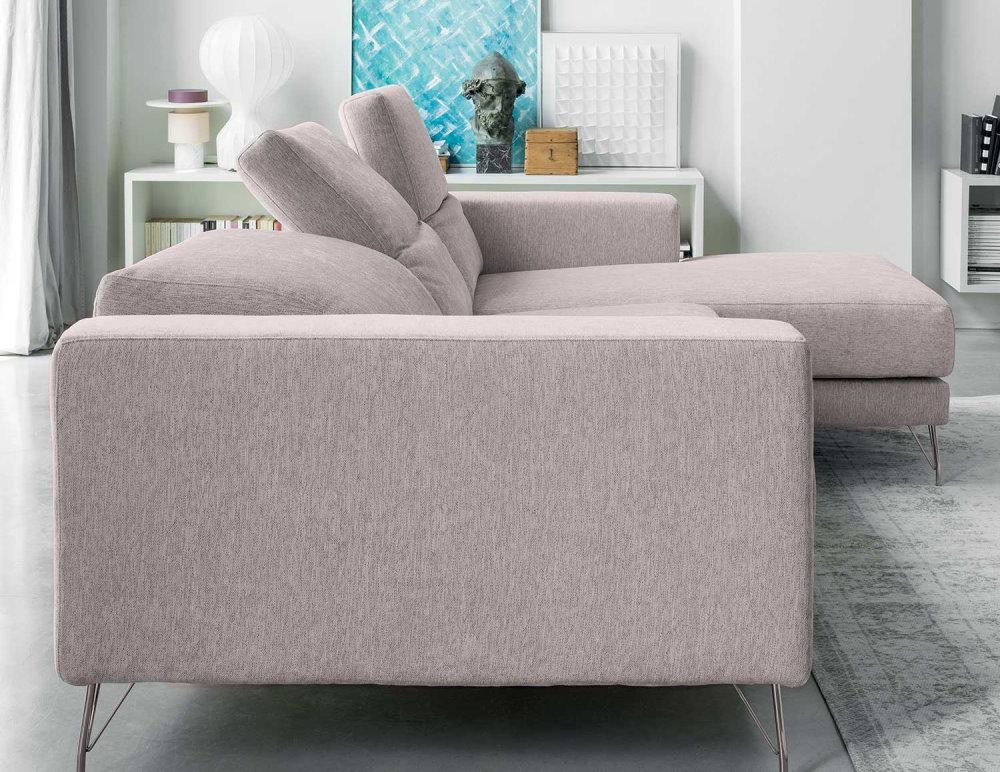 Divano con poggiatesta reclinabili per sostegno della zona cervicale - divano Kimi