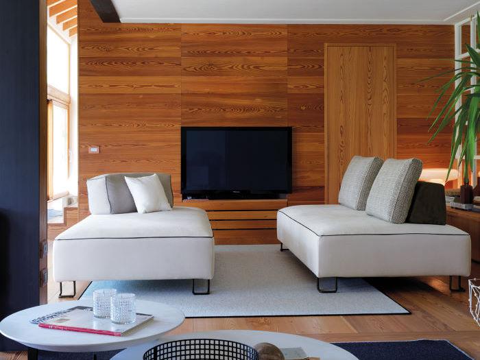 Zona conversazione con divani paralleli - Rigel