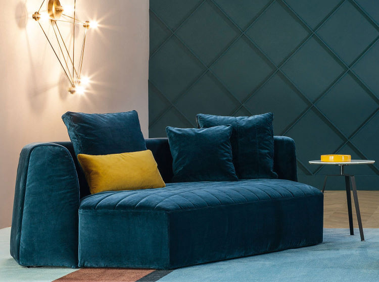 Originale divanetto 2 posti con seduta profonda - Panorama