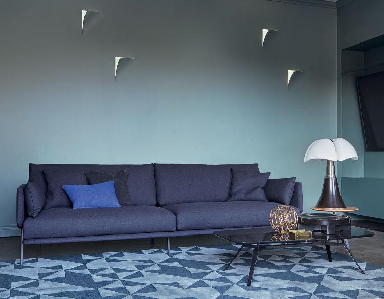 Parete retro divano con faretti integrati - Structure Sofa