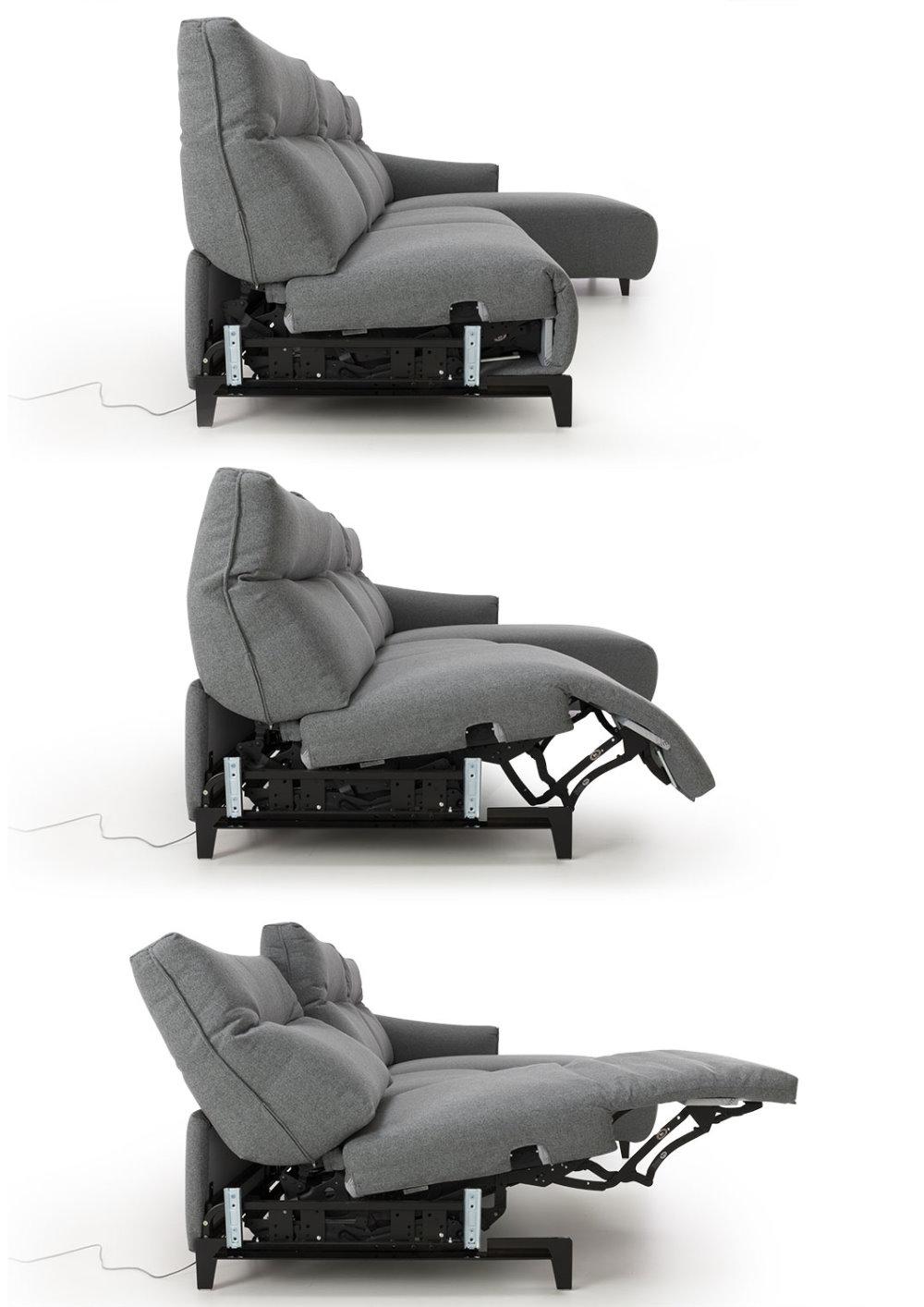 Schemi sequenza di attivazione meccanismo elettrico relax - Divano Prado