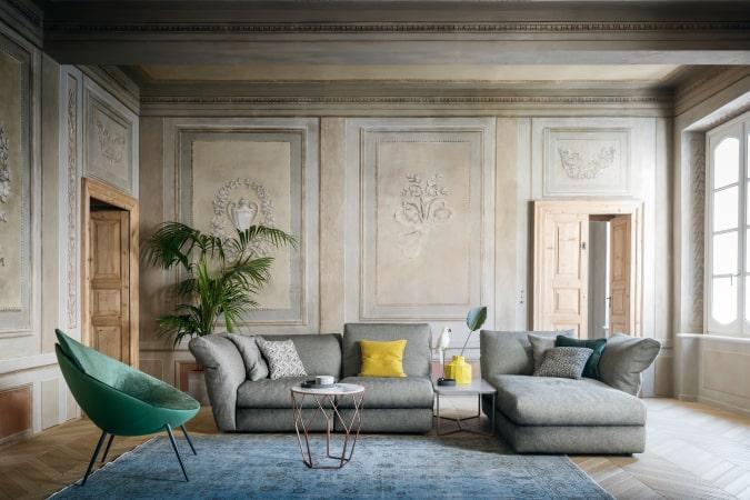 Divano moderno grigio Cortina