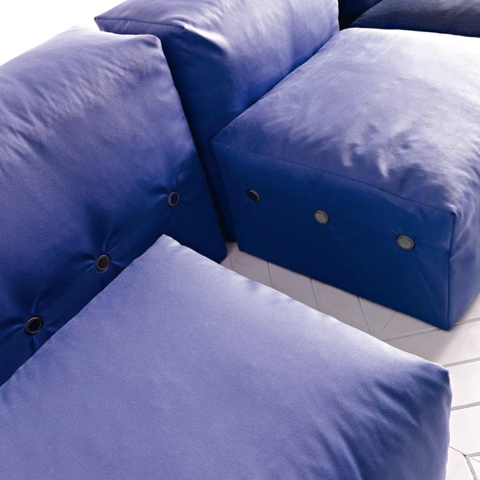 Dettaglio delle calamite del divano XXL