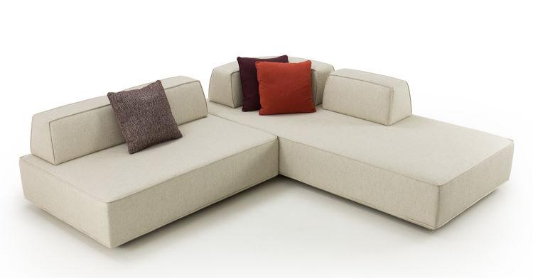 Divano modulare doppio lato con cuscini mobili - Prisma