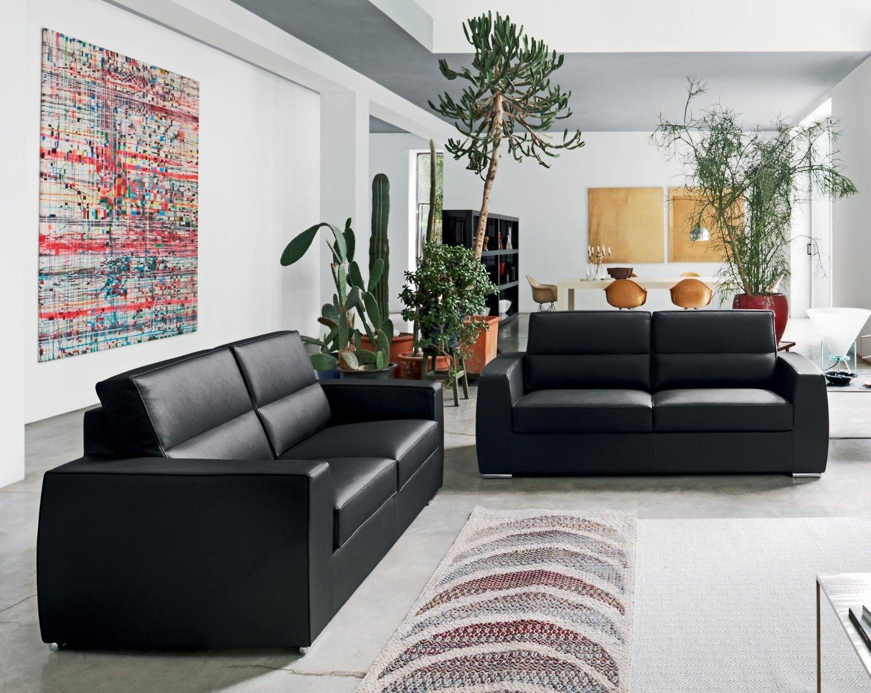 Idee divano nero sfumature di stile eleganza e for Salotto elegante