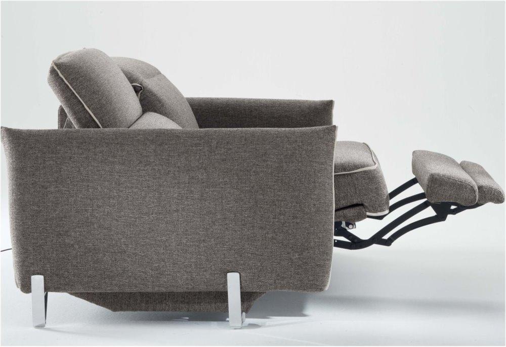 Divano reclinabile con schienale movibile, poggiatesta recliner, poggiapiedi alzabile - Divano Icaro