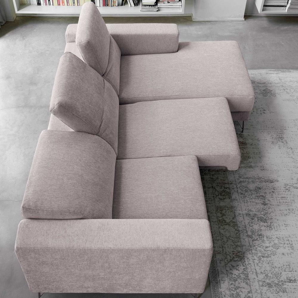 Divano reclinabile con sedute scorrevoli allungabili - divano Kimi