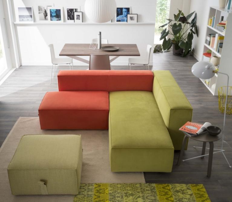 Idee arredare sala da pranzo e salotto insieme come - Divano e tavolo da pranzo ...