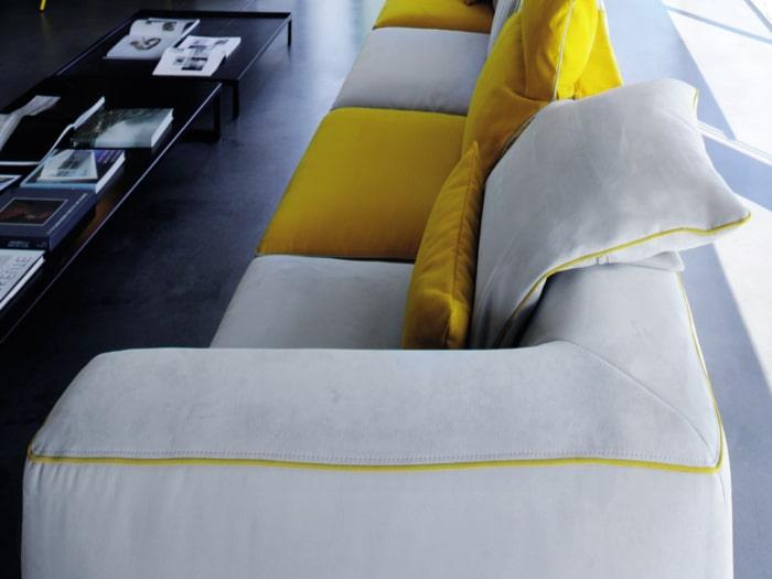 Schienale comodo per divano modulare Aloe
