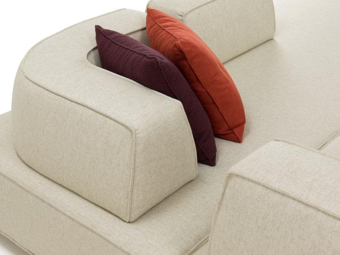 Schienale sagomato per divano componibile Prisma