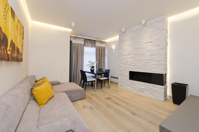 Idee progetto a londra kensington arredare casa in for Arredare parete soggiorno