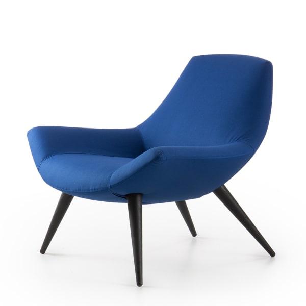 Poltrona blu in tessuto Agata Lounge