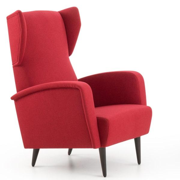 Poltrona rossa di design Coralia