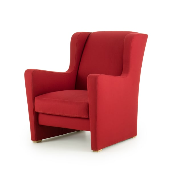 Poltrona rossa moderna Isabel