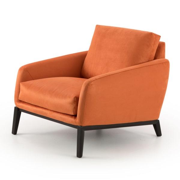 Poltrona in tessuto arancione Medea