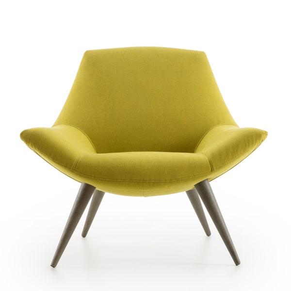 Poltrona vintage gialla Agata Lounge