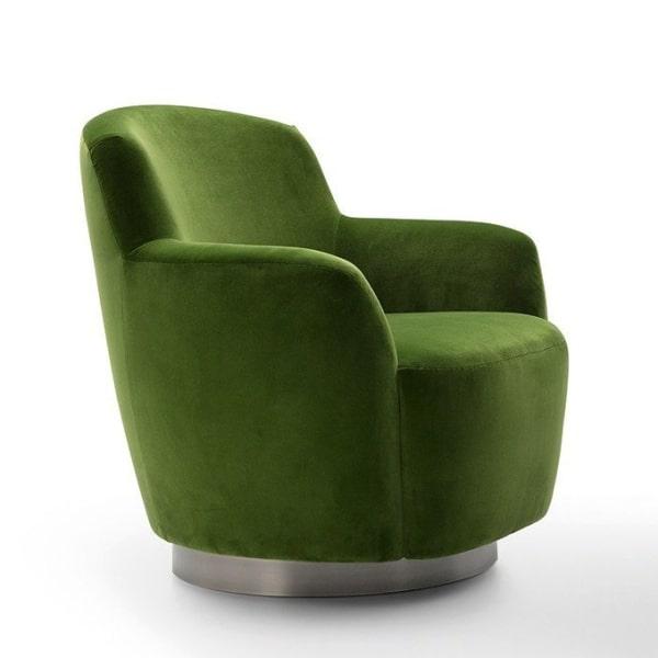 Poltroncina di design verde Yoko