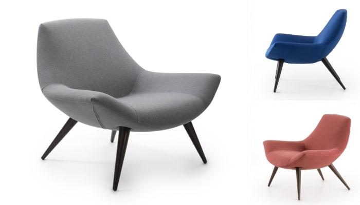 Poltrona lounge in tessuto Agata - collezione diotti.com