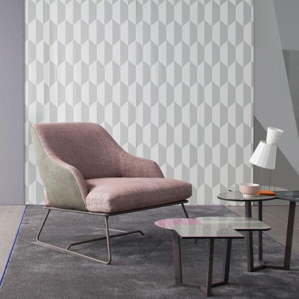 Poltrona bicolore rosa e grigio Blazer
