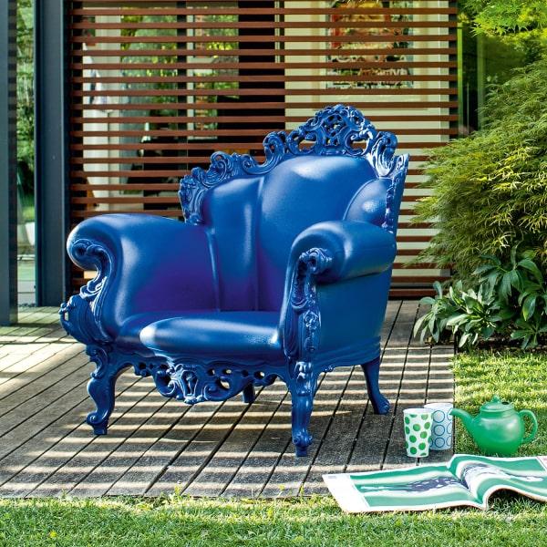 Poltrona blu elettrico Proust
