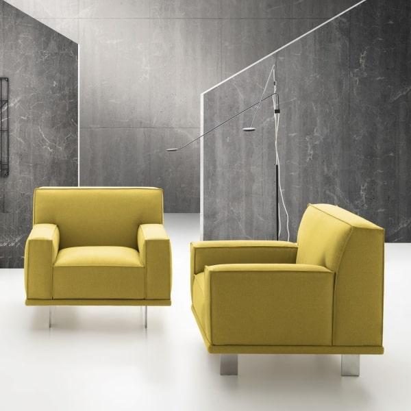 Poltrona color giallo Aliseo