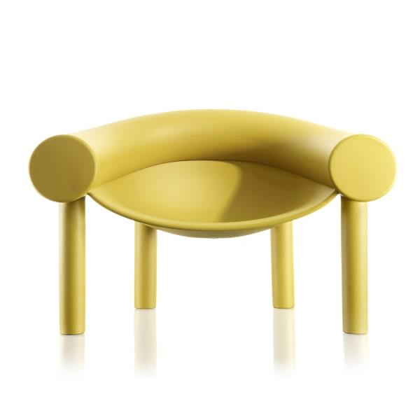 Poltrona gialla di design Sam Son