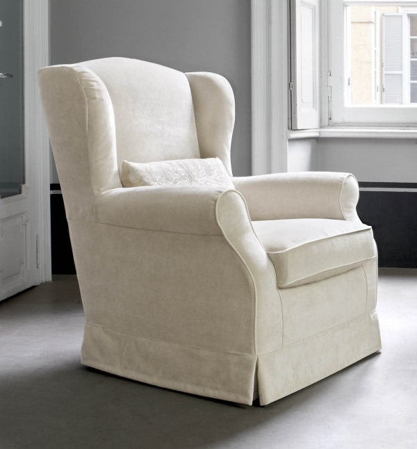 Poltrona relax beige Laurence