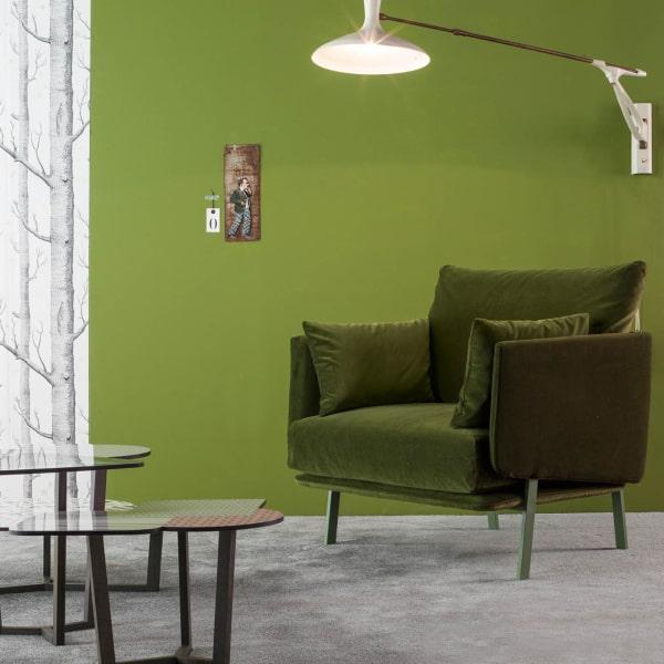 Poltrona verde oliva Structure Armchair