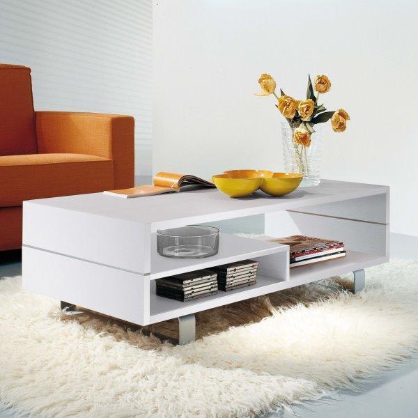 Tavolino contenitore bianco - modello DOUBLE