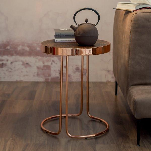 Tavolino rotondo alto per lato divano - modello CORA