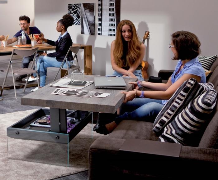 tavolini tv estraibili : ARREDACLICK BLOG - Sala da pranzo e salotto insieme: come arredare e ...